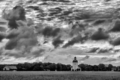 It's pleasant here for dreams and thinking (keith_fannon) Tags: cloud sky church väröbacka sweden leica countryside landscape 90mm summuritm bw mono