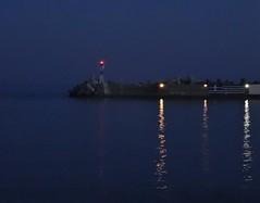 Magical. (Ia Löfquist) Tags: crete kreta ierapetra evening kväll blue blå pir pier lighthouse fyr