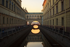 Sunset and silence (VladimirTro) Tags: russia saintpetersburg street river russian sunset canon outdoor россия санктпетербург europe 500d water bridge arch architecture canal chanal cityscape waterscape reflection