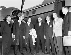 Von Braun Welcomes Astronauts to Marshall -- Sept. 1, 1962 (aeroman3) Tags: vonbraun holmes