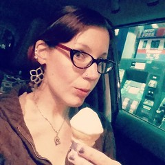 Ryan asked me to hold his ice cream cone, while I pumped gas, so he could use both his hands to buy a slushy. But it's okay though - he let me have a lick! ⛽ 🍦 (Jenn ♥) Tags: ifttt instagram