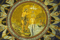 Early images of Christ (2) (Phancurio) Tags: ravenna battisteroneoniano arianism orthodoxy baptism jordan jesus christ