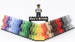 31 shades of monochrome minifig (Gzu's Bricks) Tags: minifig monochrome shades nuances lego toy toys gzu gzubricks color