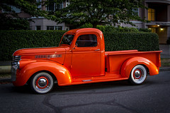 Orange (Paul Rioux) Tags: transportation vehicle truck pickup orange hotrod streetrod custom customized modified 2016 northwestdeucedays victoria bc whitewalls prioux 1946 chevrolet chev gm