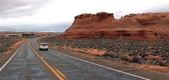 Road to  Antelope Canyon (Prayitno / Thank you for (12 millions +) view) Tags: konomark road trip upper antelope canyon page az arizona red rock street highway outdoor cloudy day gloomy morning