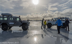 Walking on the ice. ((Paolo P)) Tags: lake ice hella iceland winter reflections sun jeeps friends sky clouds shadows lago ghiaccio islanda inverno riflessi sole amici cielo nuvole ombre