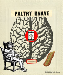 paltry knave (the digital pig) Tags: paltryknave kevinhouse surrealism surreal digitalart iowa brain coral asylum montage disconnect birdbrain stroke bird cabinetcard fineart