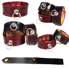 Leather Bracelet - Little O (Xansa Leder) Tags: leather bracelet wristband armband armbänder wrist band handmade handcrafted handwork handgemacht handarbeit handwerk storyofo story o fiftyshades fifty shades grey gray bdsm