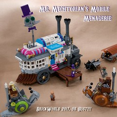 Mr. Mechtorian's Mobile Menagerie (ted @ndes) Tags: bw17 brickworld chicago steambugs great steambug migration steampunk lego