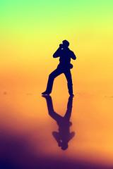 Fast Love (Neal.) Tags: silhouette macromondays georgemichael singer fastlove macro canon 100mm scotland colours warm yellow orange