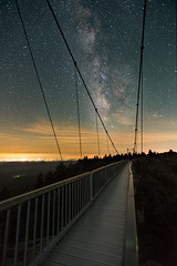Grandfather Bridge (APGougePhotography) Tags: night bridge grandfather mountains mountain north carolina northcarolina milkyway milky way stars swinging longexposure mw le long exposure nikon d800 nikond800