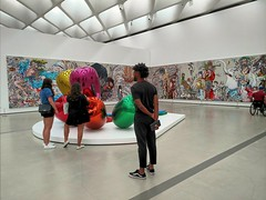 At The Broad (Thad Zajdowicz) Tags: thebroad museum art modern contemporary losangeles california usa inside indoors interior gallery sculpture painting people availablelight cellphone motorola droid turbo lightroom android mobile smartphone cameraphone color