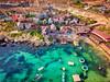 Popeye Village (J a y a ® u 1) Tags: malta popeye village dji mavic drone dronepilot arial photography landscape clearwater ocean blue boats architecture travel explore wanderlust