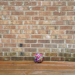My medium length scrap yarn yarn ball on solstice eve (crochetbug13) Tags: crochet crocheted crocheting crochetcat amigurumicat scrapcat scrapyarncrochet scrapyarn crochettoy crochetanimal