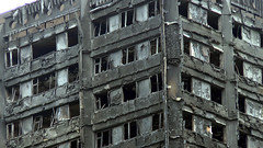 Upper Grenfell Tower (ChiralJon) Tags: grenfell tower london charred remains fire incident building flats gb news architecture londres londra noticias nouvelles borough kensington londen nieuws notizia community feu cladding