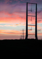 High Voltage Sunset (alexjove1b) Tags: lines power grid high voltage tension sillhouette silhouette shadow outline sunset colors vibrant landscape nikon