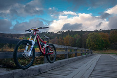 Summer Rides (PANDORA OR LATER) Tags: 21 scotland landscape bike biking downhill downhillbiking mountain nature outdoor mountainbiking river trees sony rx100 sky clouds cloudy colour countryside bridge braemare bicycle action sport waterfront water dusk weather evening