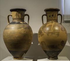 "Greek Archaic Pottery – Two LG Attic Amphorae (egisto.sani) Tags: atene lgp man museoarcheologiconazionale amphora anfora ""subdipylon group"" ""gruppo del subdipylon"" ""attic pottery"" ""ceramica attica"" ""greek ""ceramica greca"" ""arte ""greek art"" ""late geometrical period"" ""periodo tardo geometrico"" ""lg athens ""national archaeological museum"" ""museo archeologico nazionale"" nm 223 18471"