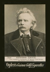 Edvard Grieg: (painting in light) Tags: edvard grieg edvardgrieg cigarette card tobacco nicotine composer pianist bergen norway 15th june 1843 4th september 1907 piano 88s ogdens guinea gold