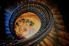 Landing Gear (Douguerreotype) Tags: uk gb britain british england london city urban architecture church stairs steps staircase spiral helix wooden