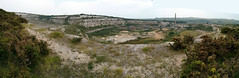 Devils Dyke to Chanctonbury Ring (Dominic's pics) Tags: shoreham cement works quarry chalk south downs way pit panorama hugin