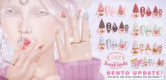 :Moon Amore: Sweet Nails BENTO Update! (PsyQueen• @Moon Amore❥) Tags: moon amore nailart nail art nails sweet cupcake kawaii cute