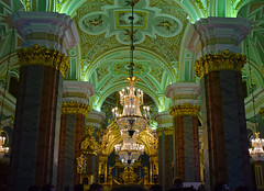 Peter and Paul Catherdral (joelpwilliams) Tags: russia green bestofflickr church cathedral gold oppulance winter palace spiritual pillars chandelier statues travel travelphotography culture europe russian ghostly marble cherub photoshop follow4follow followback