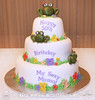 Frogs in a Garden 50th Birthday Cake