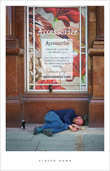 Closed down (Parallax Corporation) Tags: street life streetlife vagrant drunk asleep southport alcohol accessorize beer