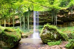 Waterfall - Cascade des Quayres (cleostan) Tags: cascade des quayres auvergne france cleostan waterfall vert arbre riviere cours deau vic le comt viclecomte
