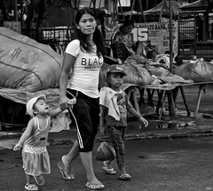 I Want ...... (Beegee49) Tags: mother children crying boy girl crossing silay city philippines