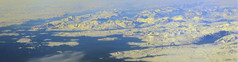 2017_05_09_muc-sfo_342 (dsearls) Tags: windowshot 20170509 flying aviation windowseat aerial white brown blue greenland vestgrønland ice glaciers rock bare desolate