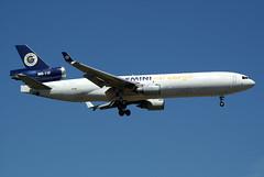 """Gemini Air Cargo McDonnell Douglas MD-11(F) N703GC """"Dennis Garcia"""" (Kambui) Tags: geminiaircargo mcdonnelldouglas md11f n703gc dennisgarcia kambui fra frachter freighter"""