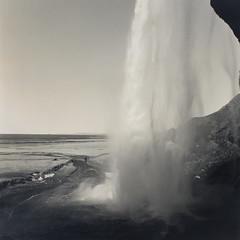 13 - Behind Seljalandsfoss (Wilfbiffherb) Tags: iceland landscape fine art black white monochrome medium format ilford ilfordphoto 120 square bronica sqa ethol lpd multigrade seljalandsfoss waterfall