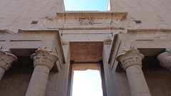 Edfu Temple Gates (Rckr88) Tags: edfu egypt edfutemplehieroglyphs temple hieroglyphs gates edfutemplegates gateway gate africa travel travelling ancientegypt ancient pharoah pharoahs columns column architecture arch arches wall walls relic relics
