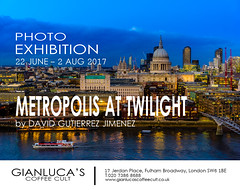 Photo Exhibition - Metropolis At Twilight, London, UK (davidgutierrez.co.uk) Tags: london davidgutierrezphotography londonphotographer photographer photography exhibition art uk bluehour twilight city architecture nikond810 nikon urban travel color night blue southbank buildings england unitedkingdom 伦敦 londyn ロンドン 런던 лондон londres londra europe beautiful cityscape davidgutierrez capital britain greatbritain le landmark arts lights colourful vibrant streets road attraction colors colours colour dusk artexhibition photoexhibition