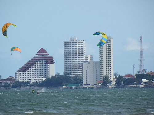 Parasailers with Resort Backdrop - Hua Hin - Thailand