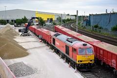 60044 6F07 Warrington Dallam (cmc_1987) Tags: 60044 dowlow class60 tug doughnut br britishrail ews db dbcargo schenker dallam warrington 6f07 s shunt empties railfreight terminal