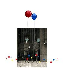 Leo & Pipo, by Shujinj (Leo & Pipo) Tags: leopipo leoetpipo paris streetart street art collage portrait artwork digital cut paste paper cutandpaste illustration retro cintage baloon mixed media graphic design old photo dada surreal