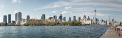 Toronto skyline from Western Channel, Billy Bishop Toronto City Airport (Slaunger) Tags: ptgui toronto skyline