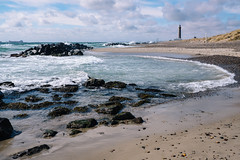 Surf, Boulders and Lighthouse (Poul_Werner) Tags: danmark denmark grenen skagen beach easter hav ocean påske sea strand northdenmarkregion dk