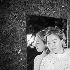 (Esther'90) Tags: portrait portraitphotography portraitwoman portraiture portraitmood woman womanportrait mirror mirrorreflection reflection reflectionface reflectionportrait reflections bokeh bokehbackground garden nature natural naturallight blackandwhite blackandwhiteportrait bw bwportrait