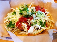 It's what's for lunch, Three Rubio's Original Beer-Battered Fish Tacos. (RigsRocks) Tags: fishtacos beerbattered rubios itswhatsforlunch crunchyfishtacos
