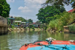 Boat tour around the island of the old city of Ayutthaya, Thailand (UweBKK (α 77 on )) Tags: boat tour canal river chao phraya flow water trees ayutthaya old city province thailand southeast asia sony alpha 77 slt dslr