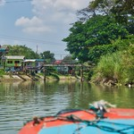Boat tour around the island of the old city of Ayutthaya, Thailand thumbnail