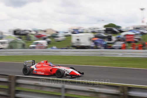Ayrton Simmons in British Formula Four at Oulton Park, May 2017