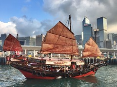 The sails (dltaylorjr) Tags: theworldthroughmyeyes china dinnercruise redsails sailing victoriaharbor cityscape junkboat chinesetradition ancienttimes hongkong dukling