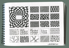 Patterns diary #1 (Mashmuh) Tags: zentangle зентангл