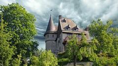 Castle with dramatic sky (YᗩSᗰIᘉᗴ HᗴᘉS +6 000 000 thx❀) Tags: castle sky dramatic clouds tempête namur belgium hensyasmine