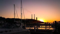 Sunset - Port Jefferson (A Screaming Comes Across the Sky) Tags: samsung cell phone mobile note 4 gala galaxy android